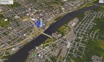 Amazon 1 Drone view from Rensselaer north to tower