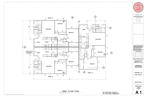 Catholic Charities Granite A1 First Floor Plan_A unit_6 Plex